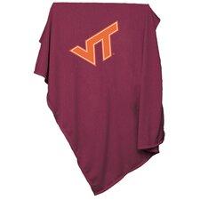 NCAA Virginia Tech Sweatshirt Blanket