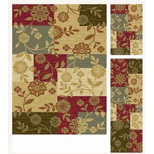 Laguna 3 Piece Multi Abstract Rug Set