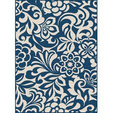 Garden City Navy Indoor / Outdoor Area Rug