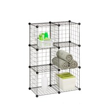 "Modular Mesh Storage Cube 44.75"" Shelving Unit"