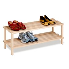 2-Tier Wood Shoe Rack