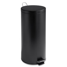 30 L Round Black Matte Can with Bucket