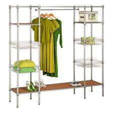 """68"""" H x 67.5"""" W x 16.26"""" D Freestanding Steel Closet"""