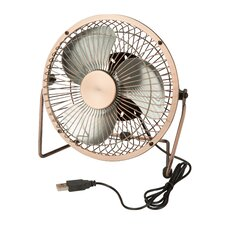 """6"""" Table Fan with USB Powering"""