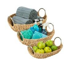3 Piece Oval Natural Basket Set