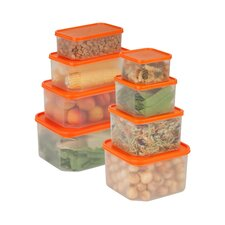 16 Piece Easy View Food Container Set