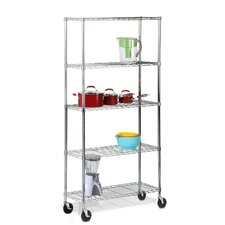 5-Tier Shelving Unit with Casters