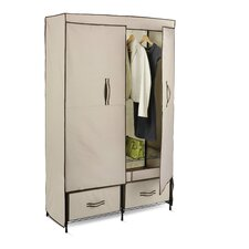 "70.9"" H x 18.1"" D x 43"" W Double Door Wardrobe"