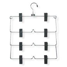 Four Tier Fold Up Skirt Hanger in Chrome/Black (2 Pack)