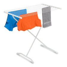 Frame Folding Metal Drying Rack in White