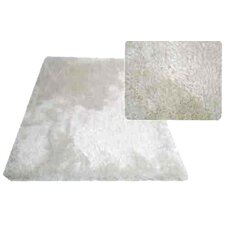 Super Shag White Area Rug