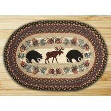 Bear/Moose Printed Area Rug