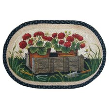 Garden Geranium  Printed Area Rug