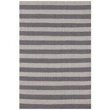 Trimaran Graphite Stripe /Fieldstone Indoor/Outdoor Area Rug