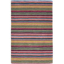 Brindle Stripe Carnival Hand Knotted Area Rug