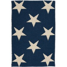 Star Navy & Ivory Indoor/Outdoor Area Rug
