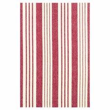 Woven Birmingham Red/White Indoor Area Rug