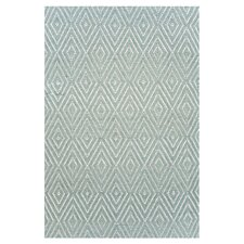Woven Light Blue Diamond Area Rug