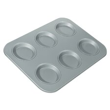 Non-Stick 6 Cup Large Shallow Muffin Pan