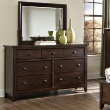 Justine 7 Drawer Dresser with Mirror