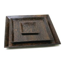 "Palm 12"" Square Wood Plate"
