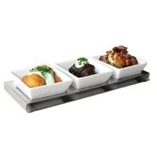 Stainless Steel Divided Serving Dish (Set of 2)