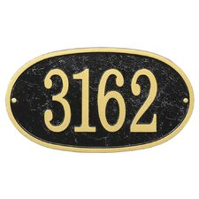 Fast and Easy Oval House Numbers Plaque