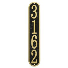 Fast and Easy Vertical House Numbers Plaque