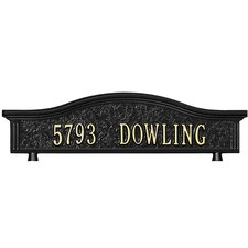 Personalized Mailbox Topper Address Plaque