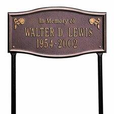 Alexandria Standard 'In Memory of' Lawn Memorial Plaque