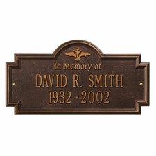 Arlington Standard 'In Memory of' Memorial Plaque