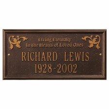 Wilmington Standard 'Living Eternally' Memorial Plaque