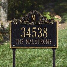 Acanthus Monogram Address Sign