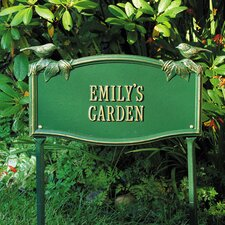 Chickadee Standard Garden Address Sign