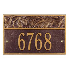 Nagano Pinecone Address Plaque