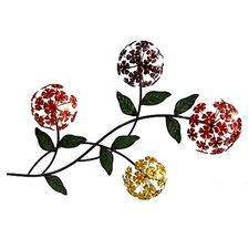Metal Hydrangea Flower Wall Décor
