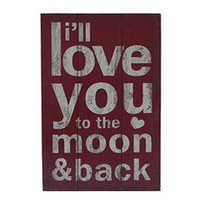 To The Moon & Back Wall Decor