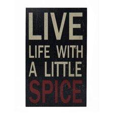 Live Life Kitchen Wall Decor