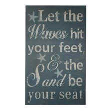 Let The Waves Hit Your Feet Wooden Wall Decor