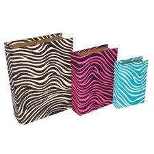 3 Piece Zebra Pattern Bubble Book Box Set