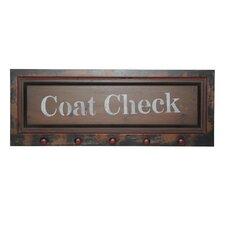 Coat Check Wall Sign