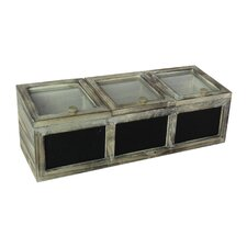 3-Section Chalkboard Storage Box
