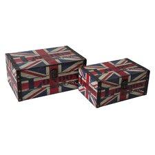 2 Piece Wooden Box Set