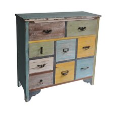 9 Drawer Wooden Chest