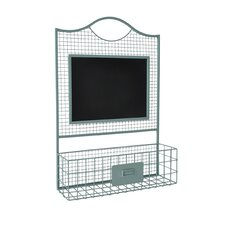 Metal Wire Wall Organizer with Chalkboard