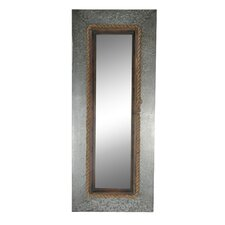 Long Wall Mirror with Rope Rim & Metal Frame