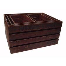 4 Piece Wooden Crate Set