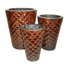 3 Piece Round Pot Planter Set (Set of 3)
