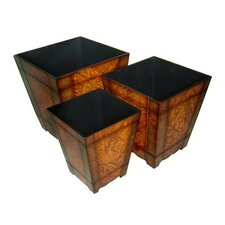 3 Piece Square Planter Box Set (Set of 3)
