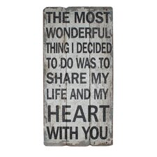 Share My Life and Hearts Textual Art